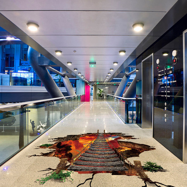 3D Flaming Floor Sticker – 60cm x 90cm (about 23.6in x 35.43in)