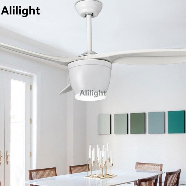 Modern Led White Ceiling Fans With Lights Dining Living Room Bedroom Decor Light Remote Control Ventilador