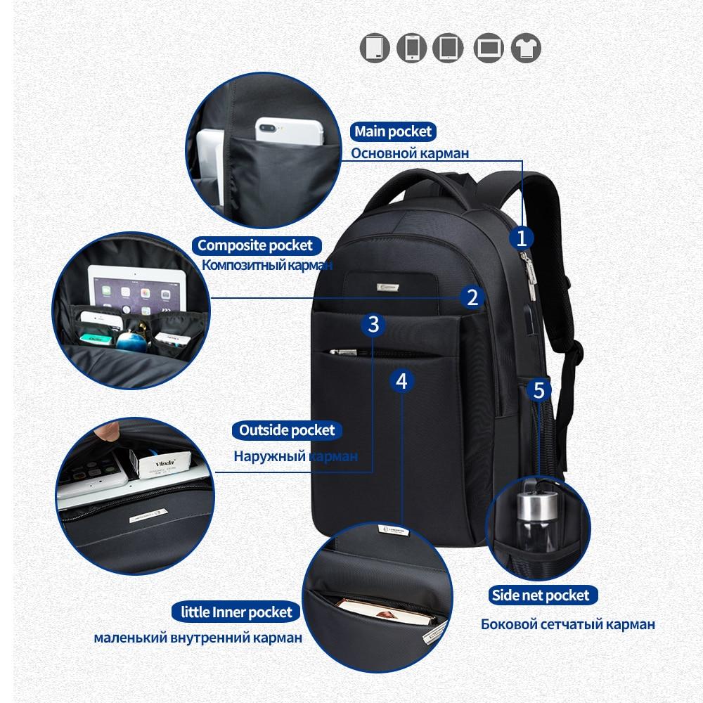 20ba5837d1 LAORENTOU Men Backpack Laptop Travel Bag Multifunction Unisex School Bag  Canvas School Backpacks for Teenagers Business Backpack-in Backpacks from  Luggage ...
