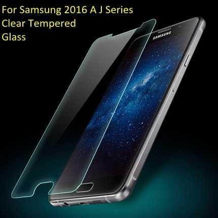 قسط الزجاج المقسى 2.5D لسامسونج A3 A5 A7 J1 J2 J3 J5 رئيس البسيطة واقي للشاشة غطاء 9 H مكافحة -انفجار طبقة رقيقة واقية
