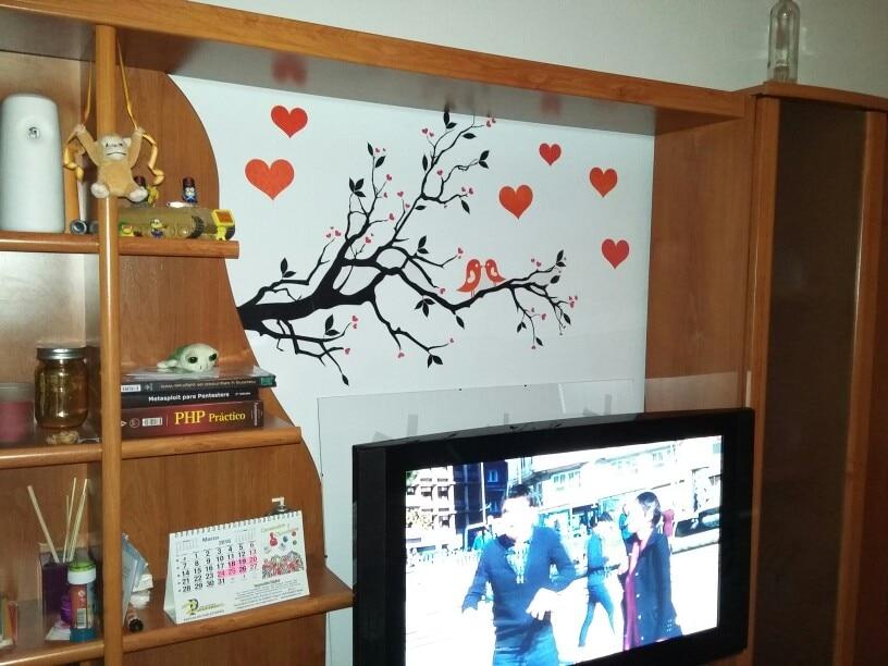 μαύρο κόκκινο αγάπη καρδιές πτηνά - Διακόσμηση σπιτιού - Φωτογραφία 4