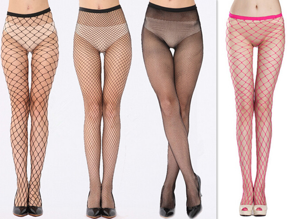 Hollow Out Sexy Pantyhose Women Girl Tights Fishnet Stockings Club Party Hosiery Female Mesh Lingerie Skin Thigh High Stocking