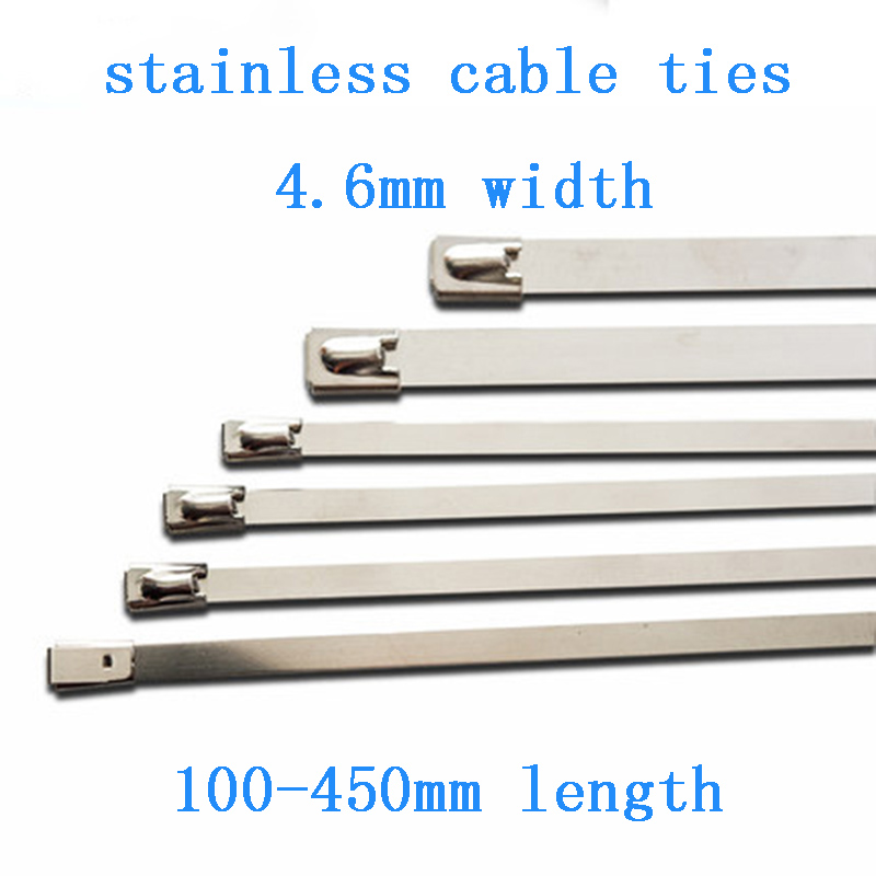 """12/"""" 10Pcs Stainless Cable Zip Tie Straps Rd Long Heavy Duty Band Exhaust Pipe"""