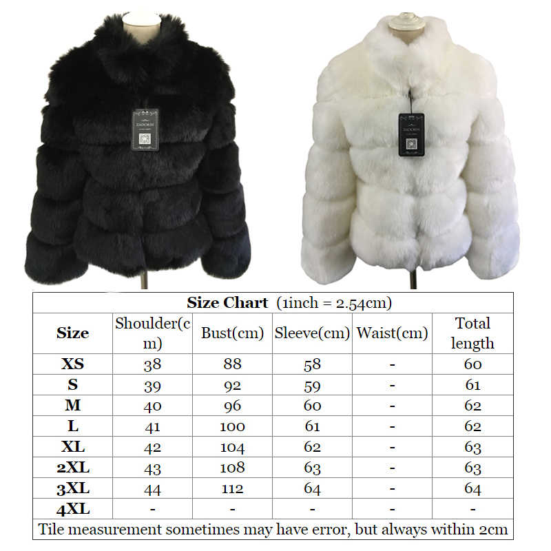 6f594f1ea244b ... ZADORIN 2019 New Winter Coat Women Faux Fox Fur Coat Plus Size Women  Stand Collar Long