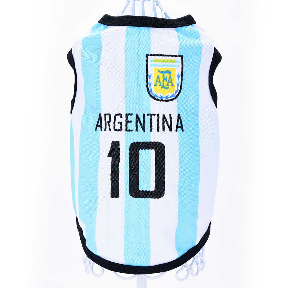 b7fa02368 ... Dog Vest Cotton Striped Summer Soccer Rugby Football Dog Clothes Sport  Jersey Chihuahua Pet Tshirt Yorkie ...