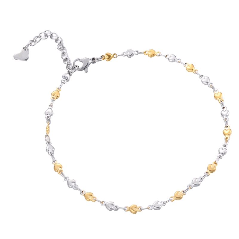 Stainless Steel Bead Chain Beach Anklet Cross Foot Women Simple Slim Adjustable Wire Anklets Summer Jewelry