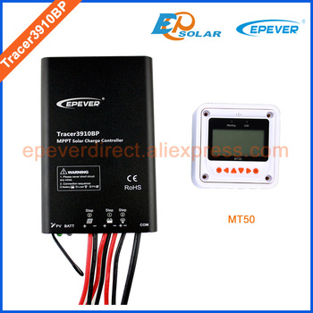 15A regulator with MT50 remote meter,MT50 not apply for lithium Battery setting,EPEVER MPPT Solar panels Tracer3910BP