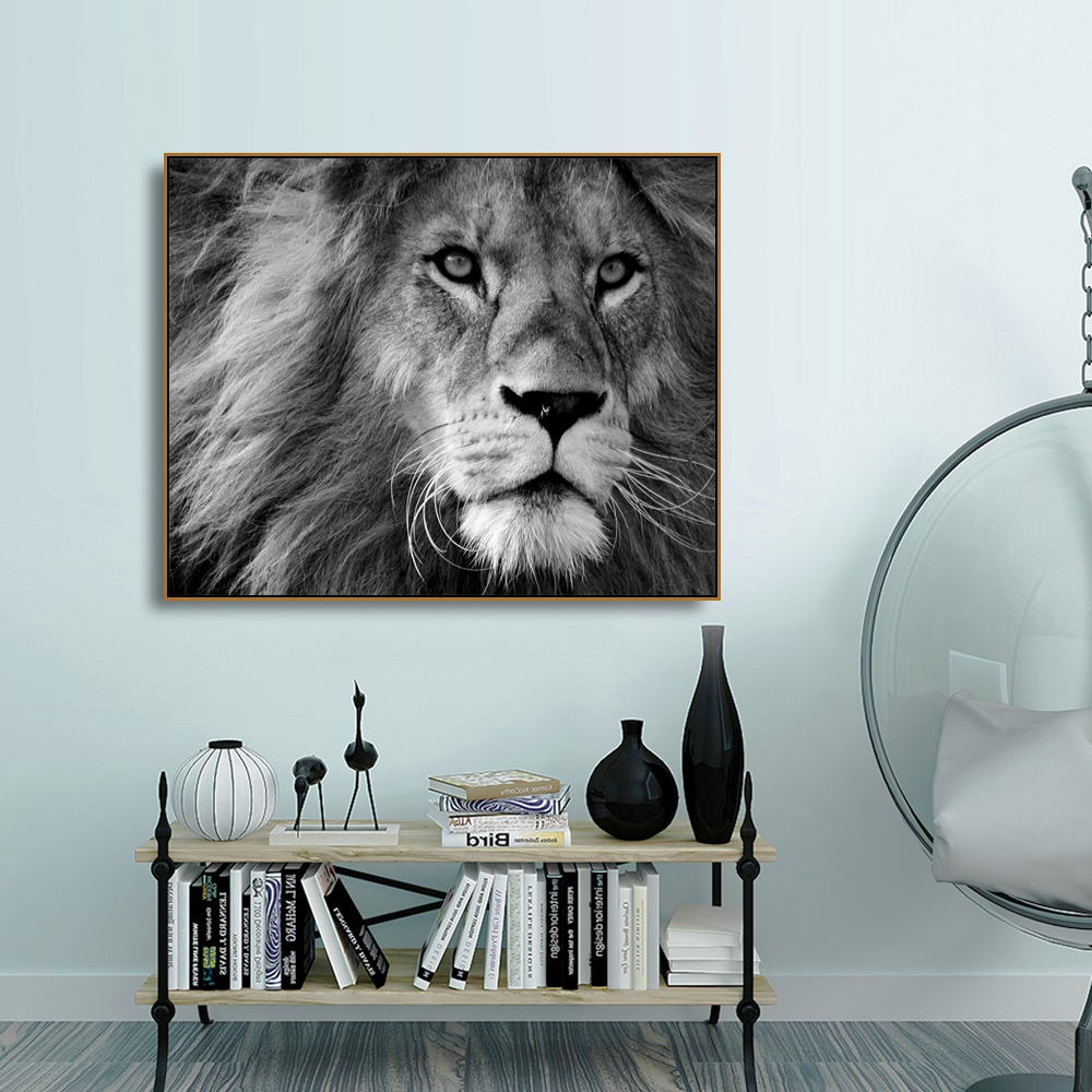Lion Natural Realist Animals Canvas Prints Home Decoration Wall Art Pictures Painting Calligraphy For Living Room Bedroom