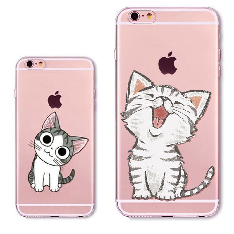 Squishy Cat Phone Case Iphone Se : Cute Cat Phone Case For iPhone 5 5s SE Fashion Animals Clear Transparent Soft Silicon Coque Capa ...