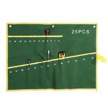 6/8/10/12/14/25 карманы гаечный ключ, дюймовый стандарт Roll Up для хранения Органайзер, сумка, карман двойное отверстие двойной Накидной гаечный ключ сумка для инструмента