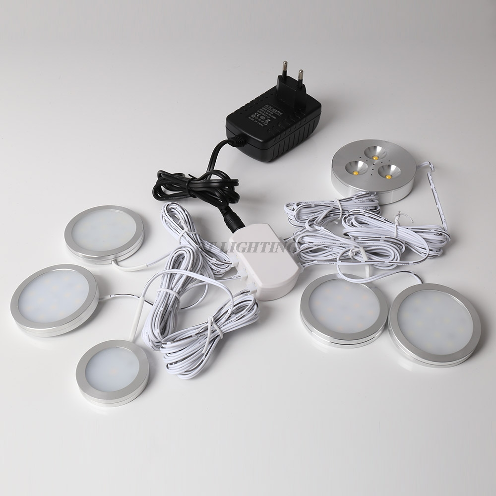 Under Cabinet Led Lighting Puck Lights Set Downlight