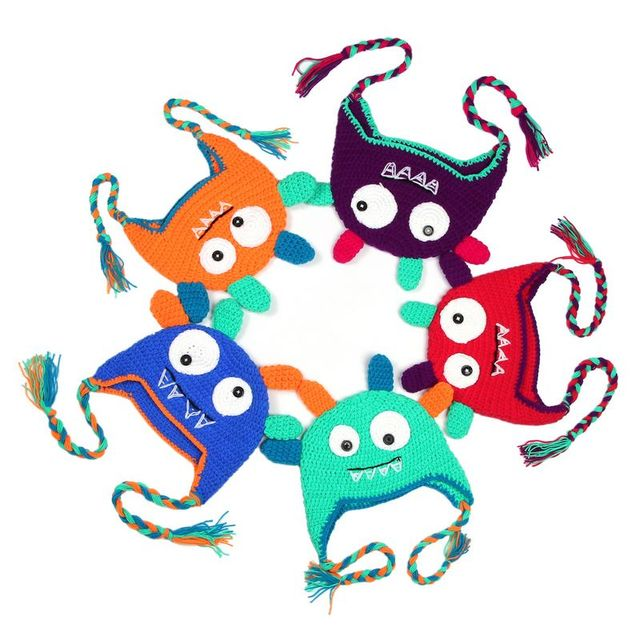 Hot Newborn Baby Monster Cap Children Crochet Soft Knitting Costume
