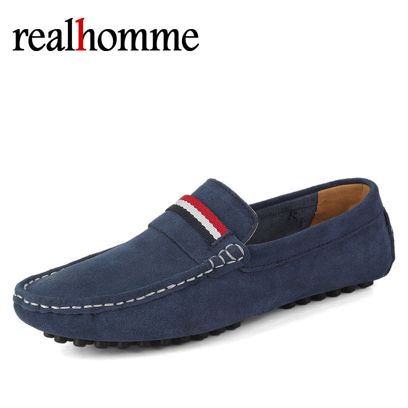 Brand Big Size Cow Suede Leather Men Flats 2018 New Men Casual Shoes High Quality Men Loafers Moccasin Driving Shoes
