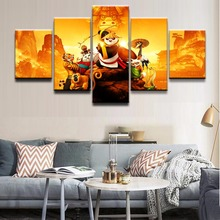 Canvas Poster Wall Art Home Decor For Living Room Print 5 Pieces Movie Kung Fu Panda 3 Character Paintings Pictures Framework