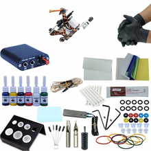 цены на Complete Tattoo Kit 1 Tattoo Machines Gun Black Ink Set Power Supply Grips Body Art Tools Set Tattoo Permanent Makeup Tattoo set  в интернет-магазинах