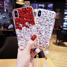 Luxury Bling Diamond soft Phone Case For Xiaomi mi 6 8 Lite 9 SE 5X A2 MAX3 For Xiaomi Redmi6 4X 4A 5A 6A Note5 6 7 Note4X 5A(China)