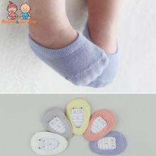 5 pares/lote moda crianças invisível barco meias bebê não deslizamento meias meias de algodão para menina e menino htws0177