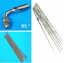 Whole Set 1 Pcs Dental Ultrasonic Scaler Tip (95 degree) +  6 Root Cleaning NITI Files key Wrench