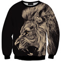 2016 Newest Style 3D Sweatshirts Tiger  Print  For Women Sweatshirt Top Hot Thin Style Hoodies