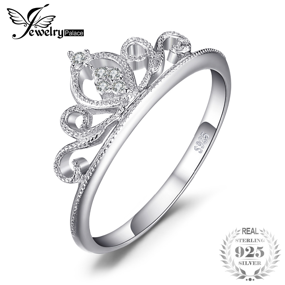 JewelryPalace Crown Round Anniversary Promise Engagement