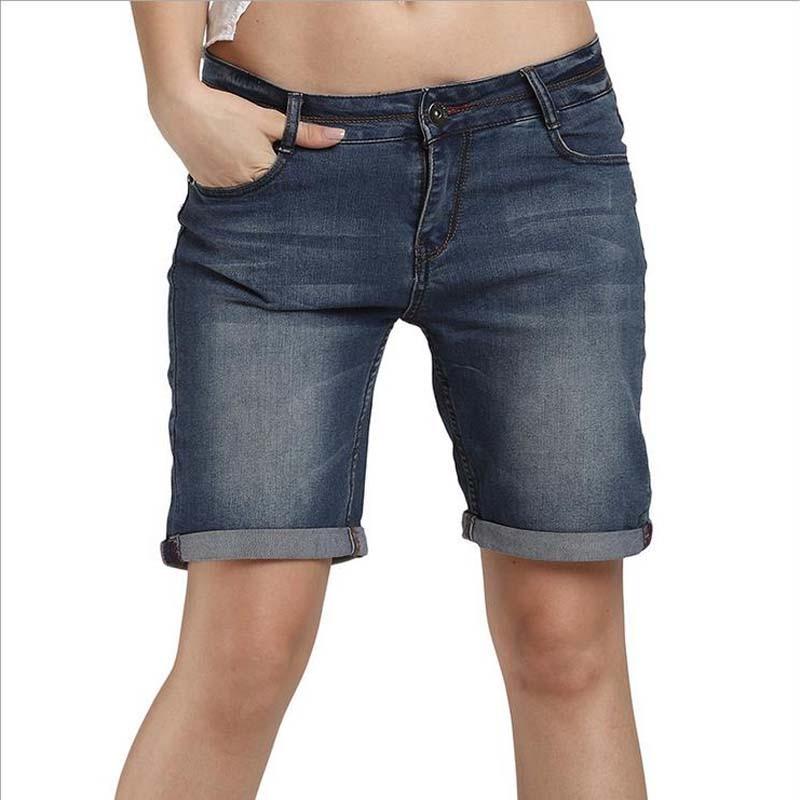 New Fashion Summer Blue Denim Shorts Women High Waist Jeans Board Shorts Big Size Boyfriends Shorts