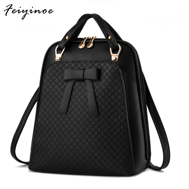 Ladies backpack Bag shoulder Girls Backpack bag - school Bag PU leather backpack