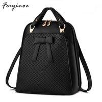 New Ladies Backpack Shoulder Bag Korean Version Of The Influx Of Women Bag School Pu Leather
