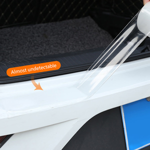 Image 4 - Наклейки на автомобиль, защита края двери, универсальная наклейка на порог автомобиля, прозрачная пленка против царапин, стильные аксессуары для автомобиля