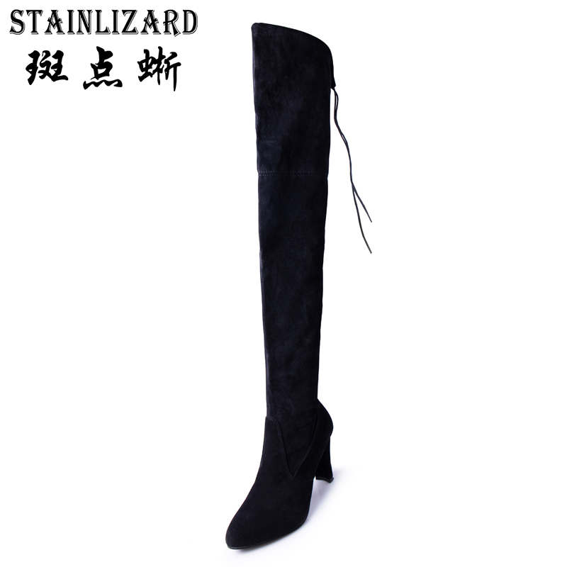 Sexy Women Winter Boots Over The Knee Warm Woman Autumn Boots Casual High Boot Female High Heel Women Shoes Footwear DT1049 women over the knee boots suede thigh high boots 2017 autumn winter ladies fashion fur warm high heel boots snow shoes woman