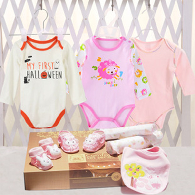 100 Cotton Baby Clothes Toys Gift Box Newborn Climb Clothes Baby