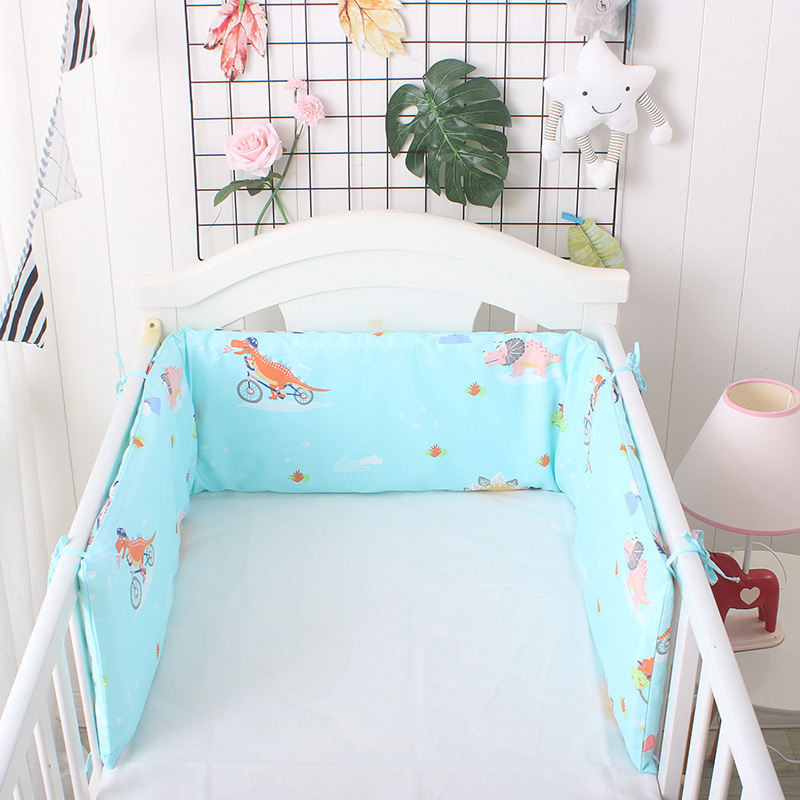 One-piece Cotton Breathable Printed Baby Crib Cot Bumper Protector Newborn Bed Surrounded By Safety Rails Bedding Supplies