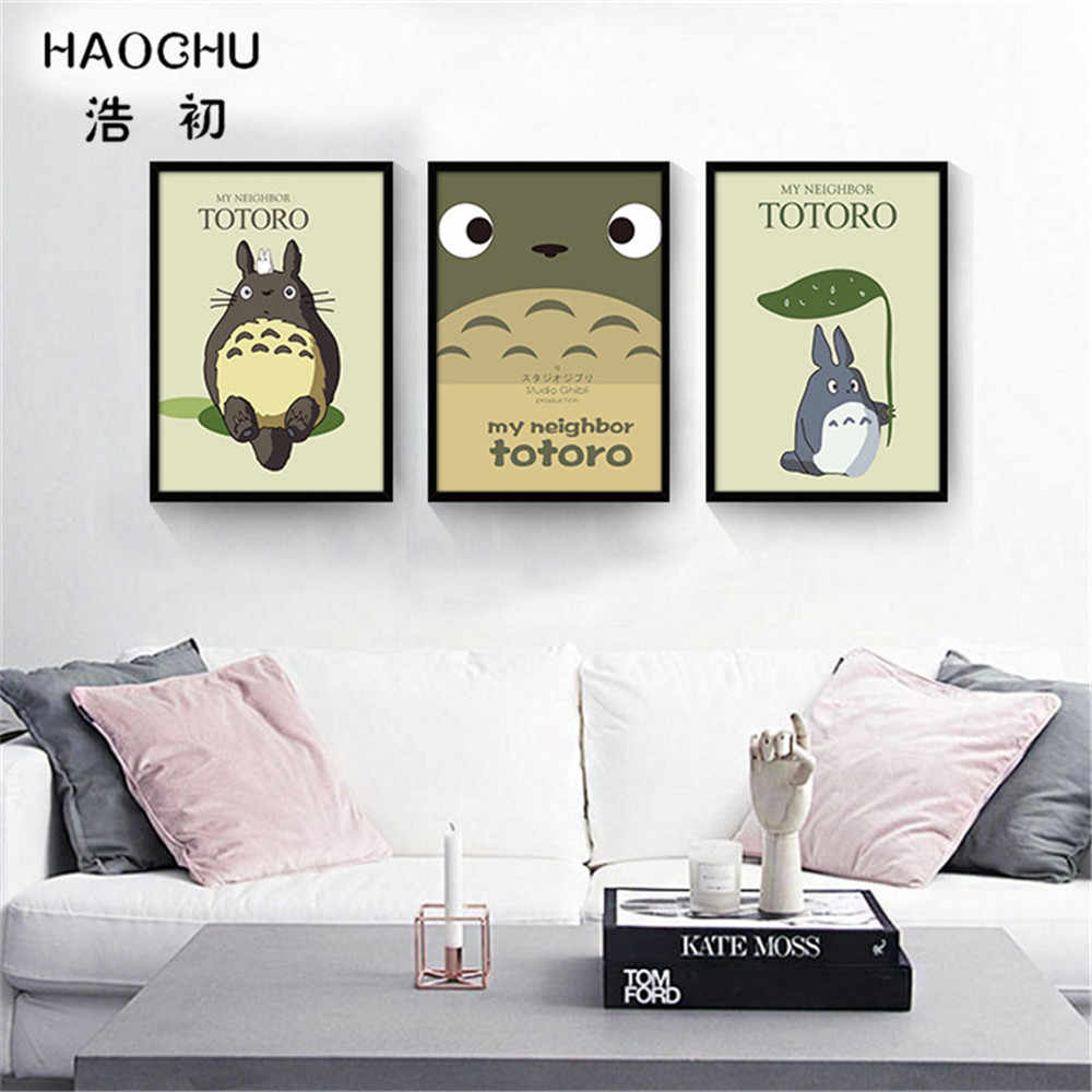 Haochu Abstract Black And White Letters Diamond Heart Dog Math Graphic Circular Cube Canvas Wall Paintings Home School Bar Decor
