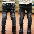 Novo 2016 crianças Quentes calças de brim para meninos Zipper Calças jeans bebê crianças calças de brim de inverno Lavado meados calças de Brim menino calças