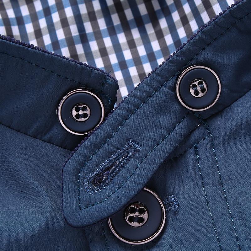 Hombres Sólido Caballero Azul Abrigo caqui Casual Chaqueta Nantersan Slim Otoño Color Nuevo 5qSRY8Yn