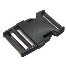 En gros 10pcs * 10 pièces boucles plastiques clips paracord pour sangle élastique bracelet paracorde noir 38mm