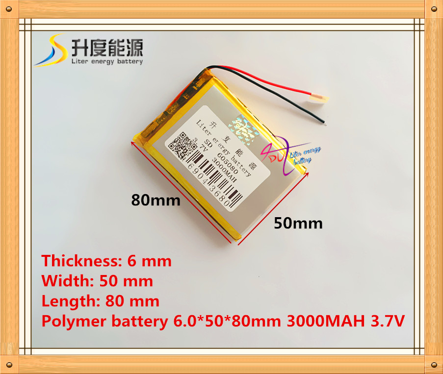 3.7V 605080 lithium polymer batteries 3000MAH 7 inch Tablet PC battery batteries product spot|tablet pc battery|polymer battery|battery 3000mah - title=
