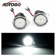 Aotogo 2 pçs de alta potência branco led espelho lateral poça luzes para ford f150 2012 2013 2014