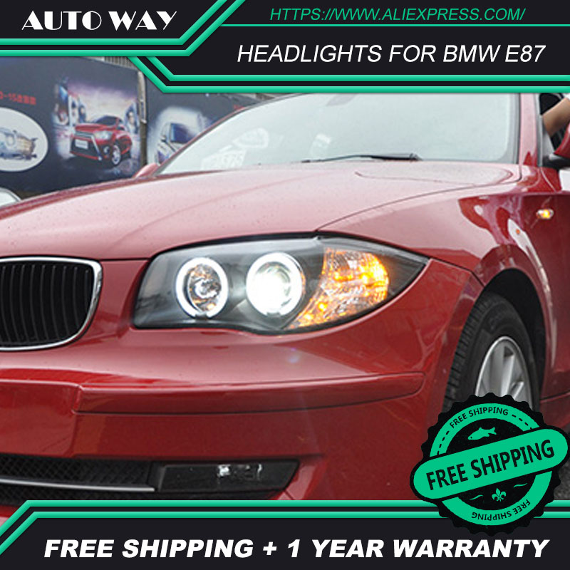 Car styling HID LED headlights headlamps HID Hernia lamp accessory products case for BMW E87 116i