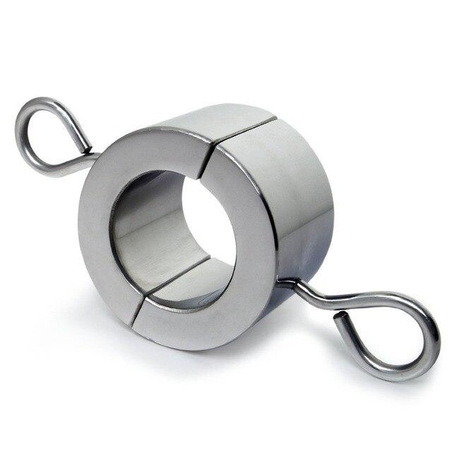 548g Pesado Metal Cock Ring Escroto Camilla Camilla Pelota Peso para CBT Cerradura Del Pene Del Anillo Del Pene Del Sexo Para Los Hombres pene