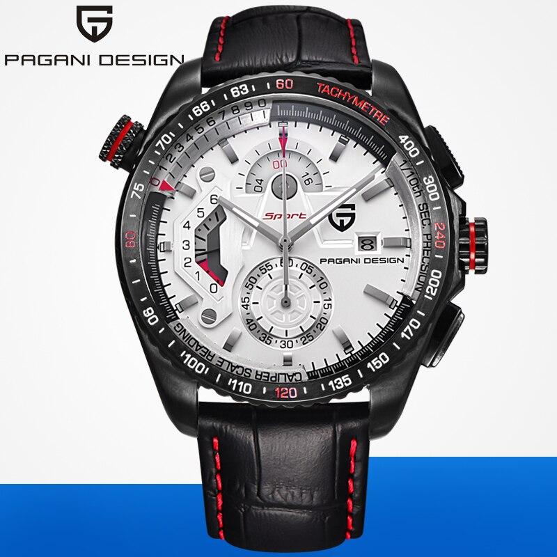 PAGANI DESIGN de luxe marque chronographe Sport hommes montres étanche en cuir Quartz montre militaire Relogio Masculino Rosefield