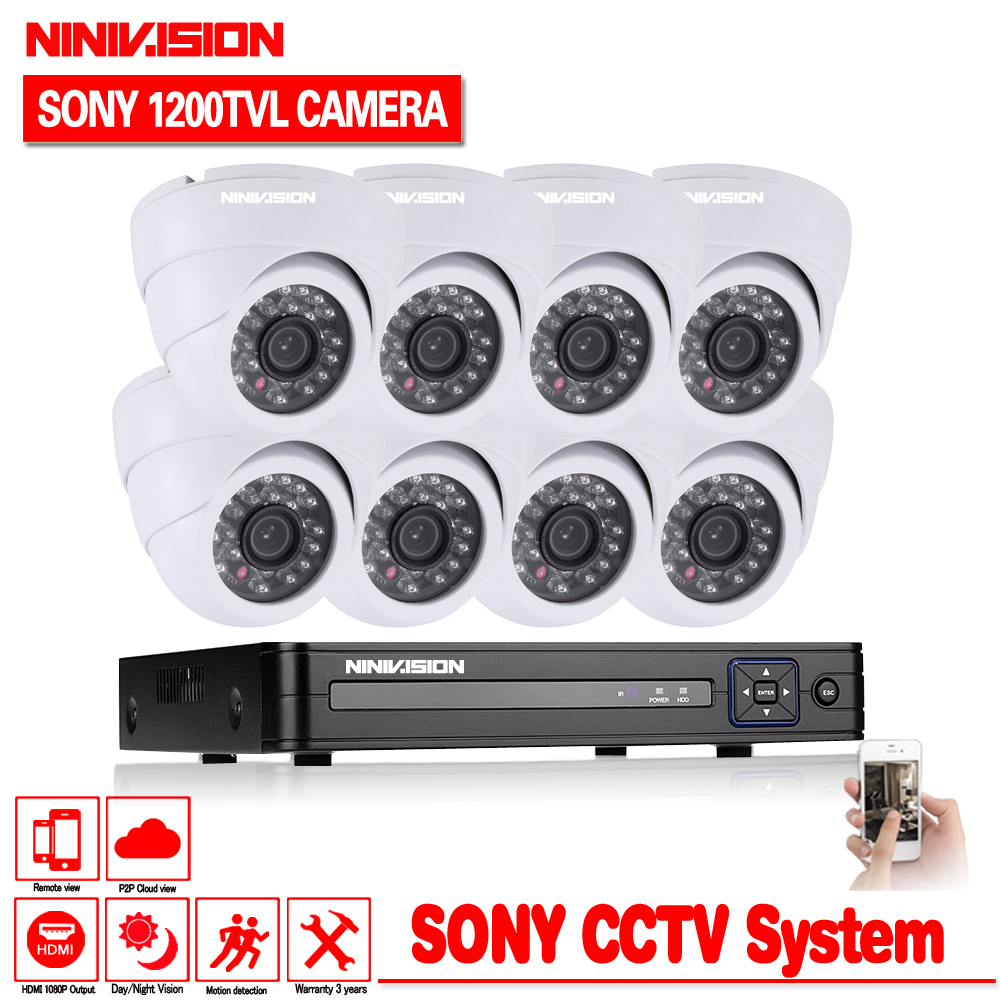 8CH CCTV System 8CH 1080P DVR 8PCS 1200TVL CCD 1.0MP IR indoor Outdoor CCTV Dome Camera Home Security System Surveillance Kits8CH CCTV System 8CH 1080P DVR 8PCS 1200TVL CCD 1.0MP IR indoor Outdoor CCTV Dome Camera Home Security System Surveillance Kits