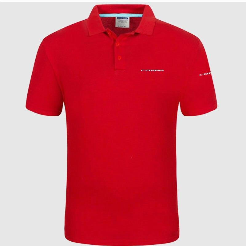 High quality logo crocodil Cobra logo   Polo   classic brand Men   Polo   Shirt Men Casual solid Short Sleeve cotton   polos