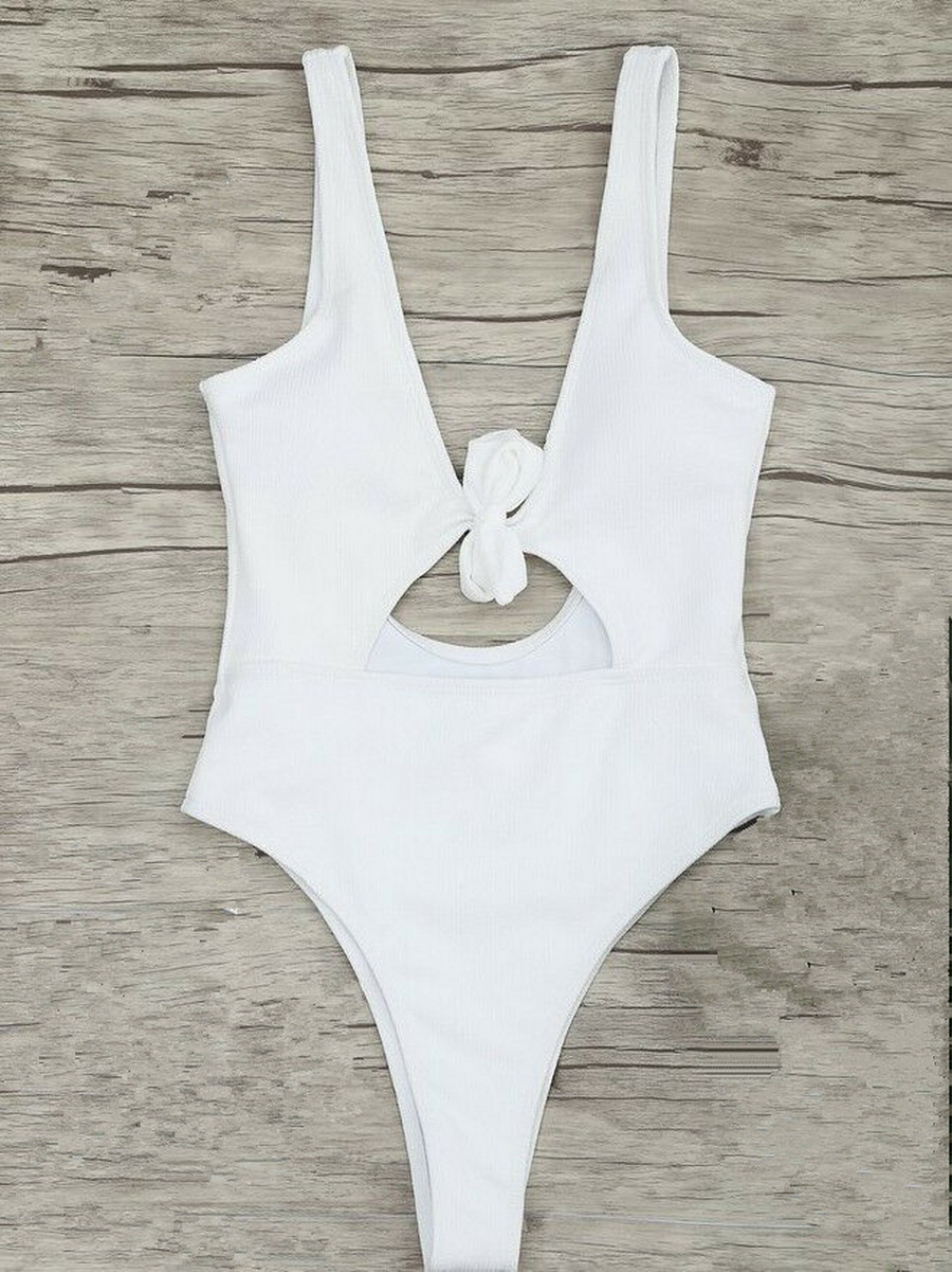 Swimwear Women High-Cut Bodysuit Monokini Sexy Hollow-Out New Bowknot by 100pcs Dhl