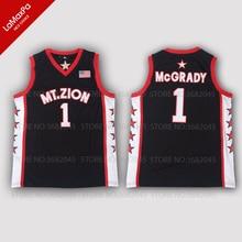 69572736 Retro Mens T-Mac Tracy McGrady Basketball Jerseys No.1 Mount Zion High  School Throwback Black Stitched High Quality Shirts