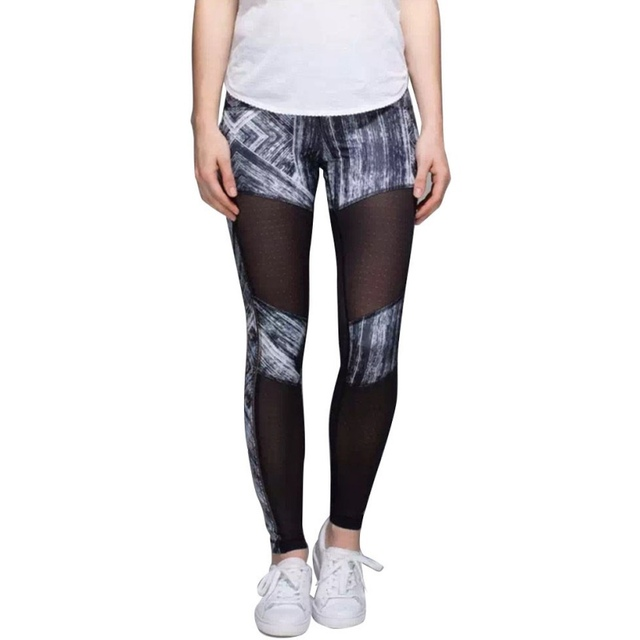 Female Elastic Fitness Pants Sexy Leopard Print Stripe Leggings Compression Pants