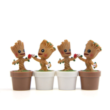 цена на Mini Garden Flowerpot Groot Red Cliff Tree Man Baby Digital Action Tree Flower Pots Figure Toys Planter Pot for Home Office