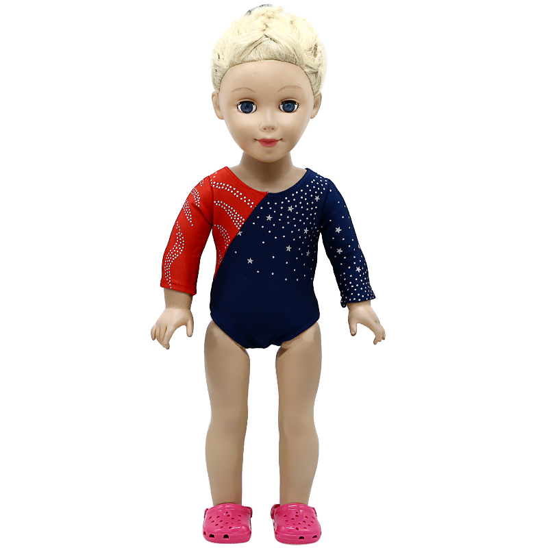купить American Girl Dolls Gymnastic Clothing Dance Costume Fit 18 inch Doll American Girl Doll Accessories X-228 drop shipping по цене 141.19 рублей