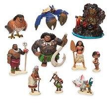 Disney Film Vaiana Moana 10 adet/takım Karikatür Prenses Maui Baş Tui Tala Heihei Pua Aksiyon Figürü Dekorasyon Oyuncaklar Için Çocuk