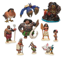Disney Movie Vaiana Moana 10pcs/set Cartoon Princess Maui Chief Tui Tala Heihei Pua Action Figure Decoration Toys For Childrens