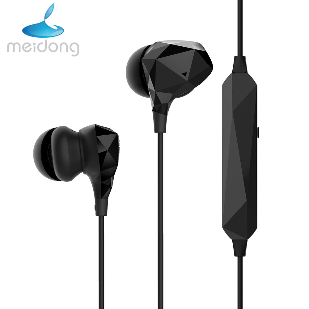 Meidong HE8B APT-X Active Noise Cancelling Bluetooth V4.1 Earphone headphones wireless sport earbuds with Mic for phone m uruoi noise cancelling headphones bluetooth earphone waterproof bluetooth headset sport earbuds handsfree stereo for phone